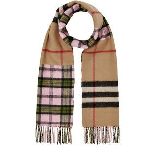 Burberry Found Check & Giant Check Blend Scarf